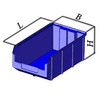 Ящик пластиковый, контейнер V-4