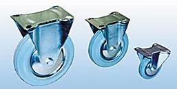Колесные опоры неповоротные серия GFC полуэластичная серая резина