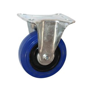Колесные опоры неповоротные серия FCL эластичная синяя резина