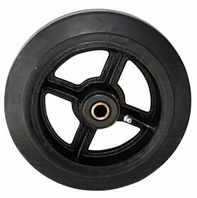 Колесо большегрузное серия D чугун, литая черная резина
