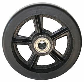 Колесо большегрузное серия DL чугун, литая черная резина