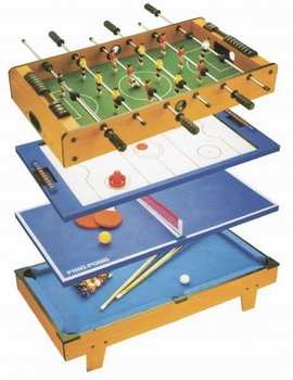 Набор игр Футбол/Аэрохоккей/Теннис/Бильярд 80х43х24 см
