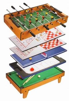 Набор игр Футбол/Аэрохоккей/Теннис/Бильярд/Боулинг/Шашки/Шахматы/Нарды 91х51х36 см