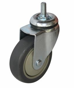 Колесо с болтовым креплением поворотное серия SCtk термопластическая серая резина