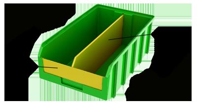 Разделитель продольный для пластикового ящика V-4 3 мм